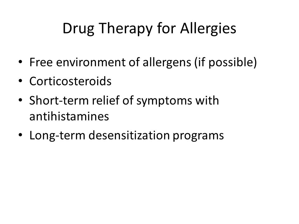 Drug Therapy for Allergies