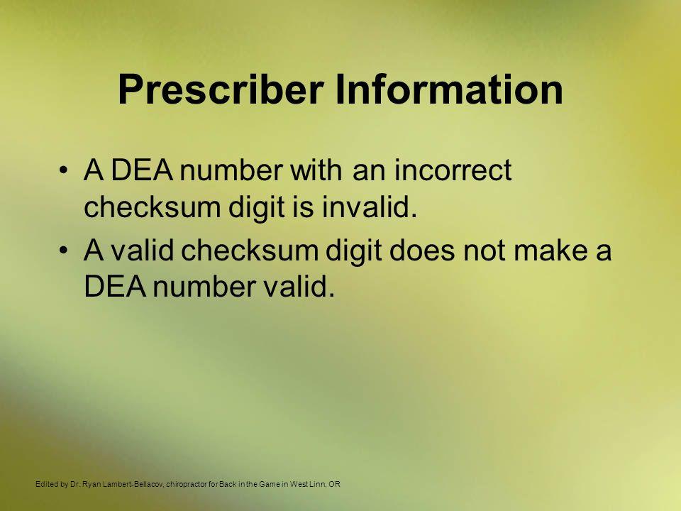 Prescriber Information