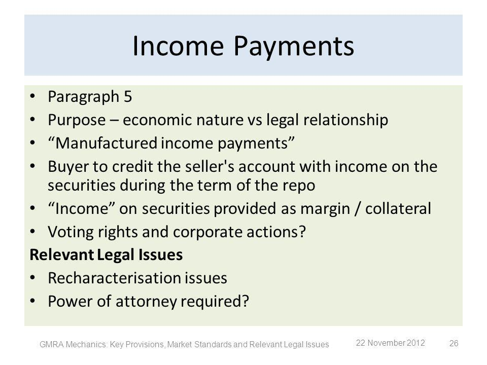 Income Payments Paragraph 5
