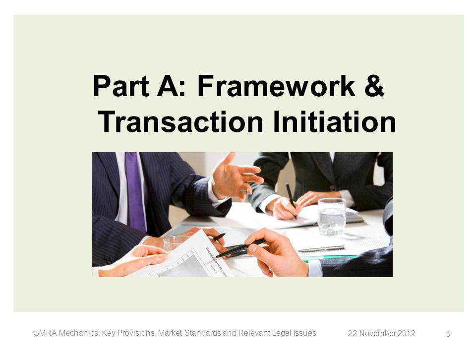 Part A: Framework & Transaction Initiation