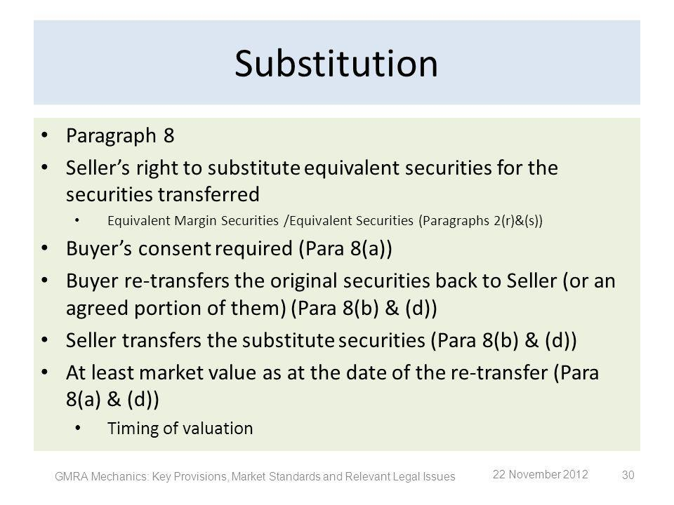 Substitution Paragraph 8