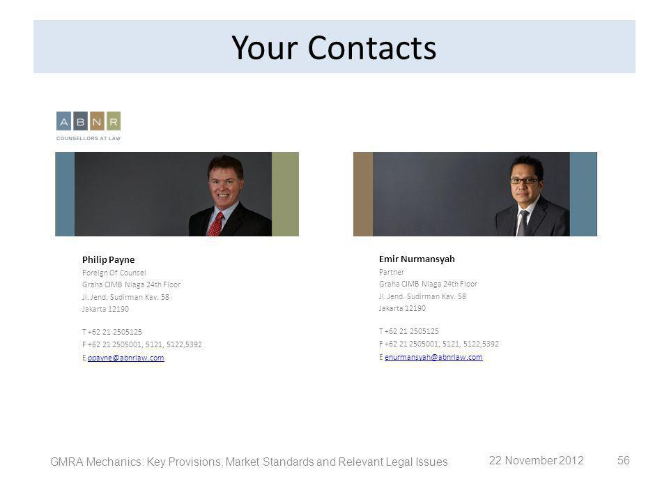 Your Contacts Philip Payne. Foreign Of Counsel Graha CIMB Niaga 24th Floor. Jl. Jend. Sudirman Kav. 58.
