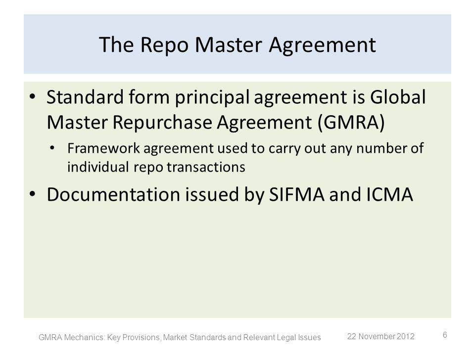 The Repo Master Agreement