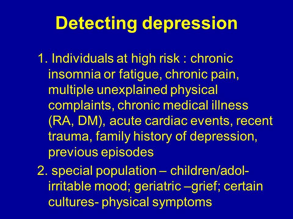 Detecting depression
