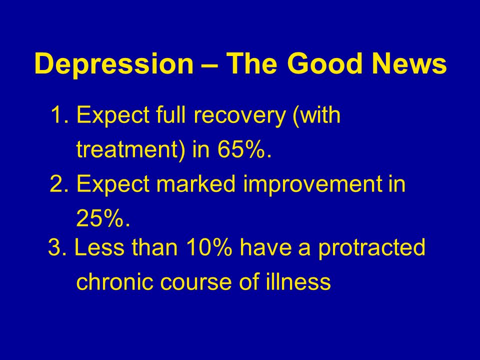 Depression – The Good News