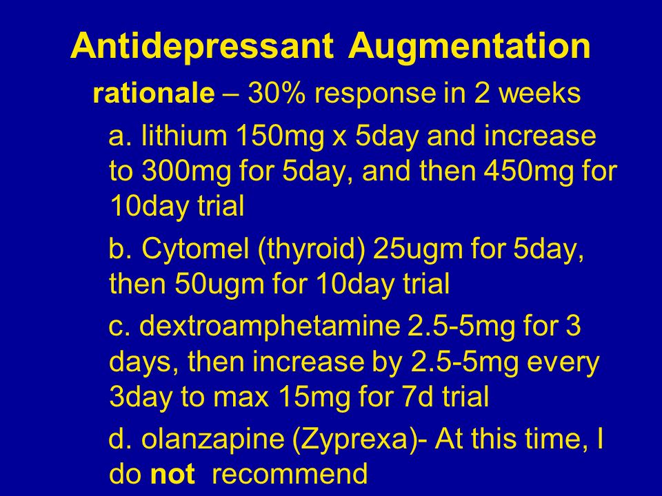 Antidepressant Augmentation