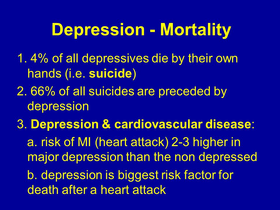 Depression - Mortality