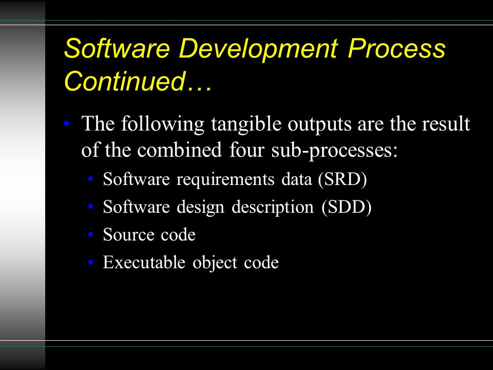 Software Development Process Continued…