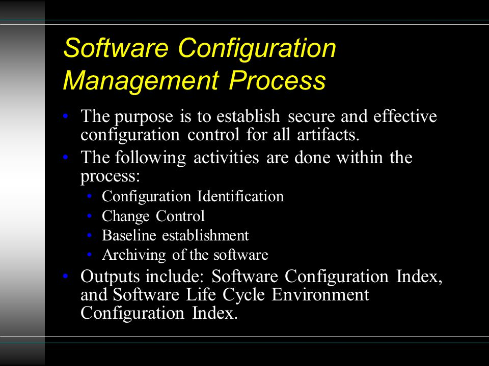 Software Configuration Management Process