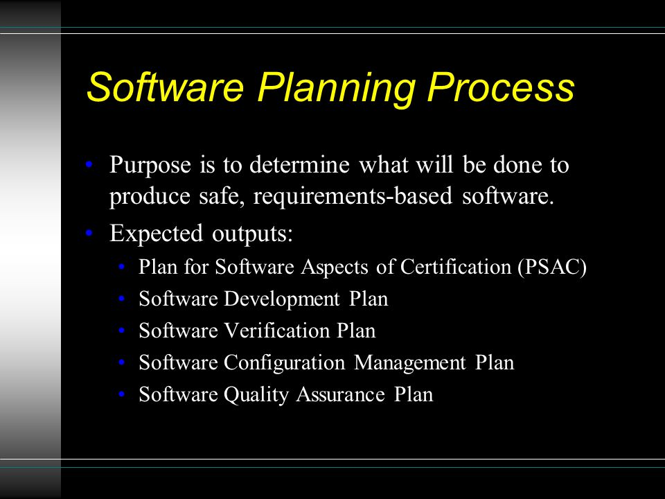 Software Planning Process