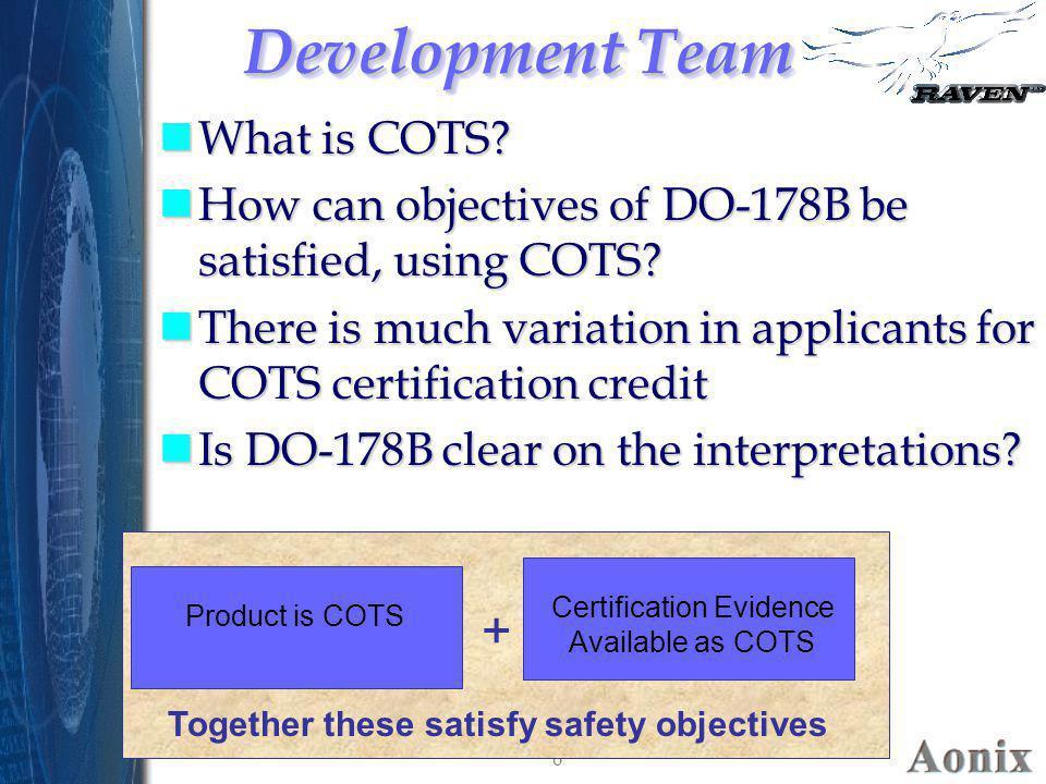 Certification Evidence