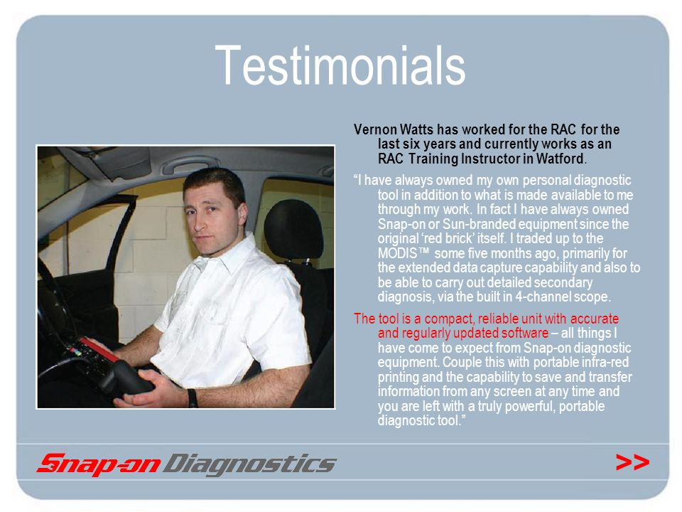 Testimonials Vernon Watts has worked for the RAC for the last six years and currently works as an RAC Training Instructor in Watford.