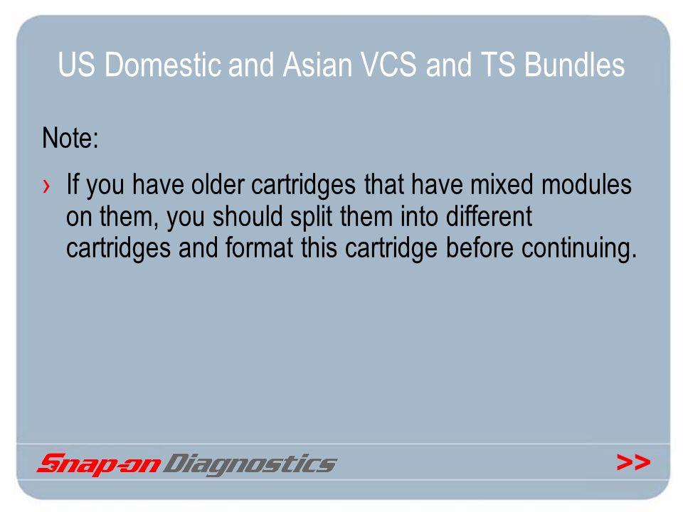 US Domestic and Asian VCS and TS Bundles