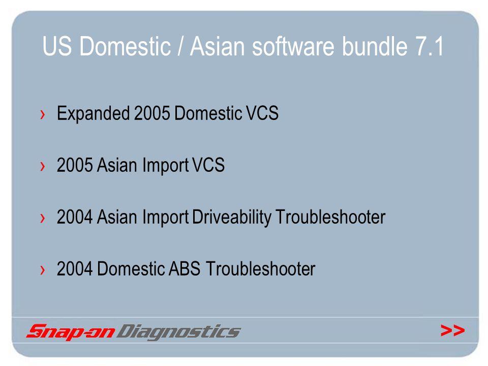 US Domestic / Asian software bundle 7.1