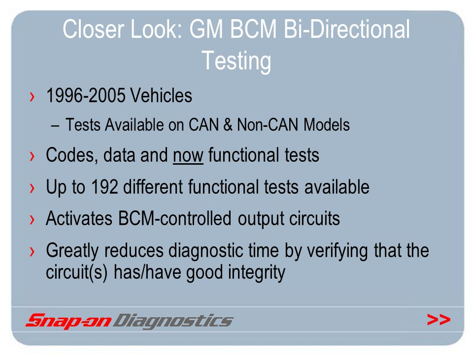 Closer Look: GM BCM Bi-Directional Testing