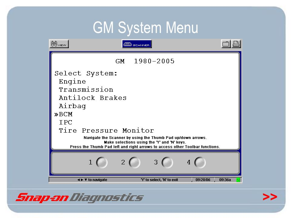 GM System Menu