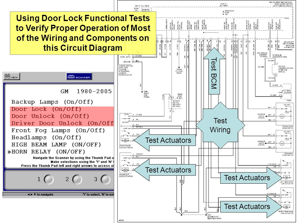 Using Door Lock Functional Tests to Verify Proper Operation of Most of the Wiring and Components on this Circuit Diagram