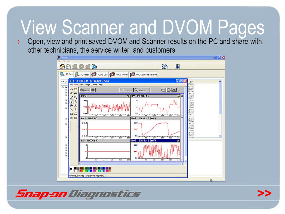 View Scanner and DVOM Pages