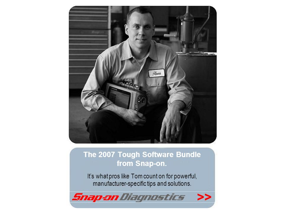 The 2007 Tough Software Bundle from Snap-on.