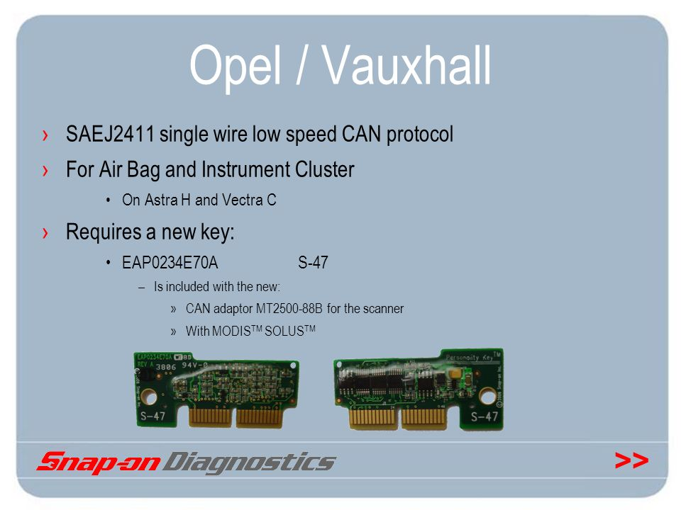 Opel / Vauxhall SAEJ2411 single wire low speed CAN protocol