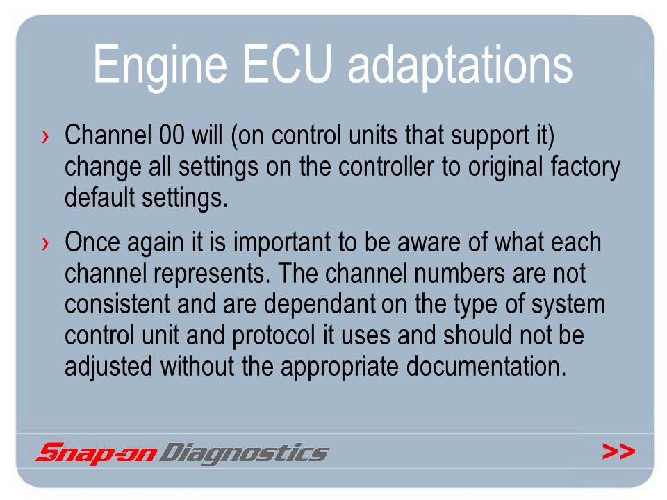 Engine ECU adaptations