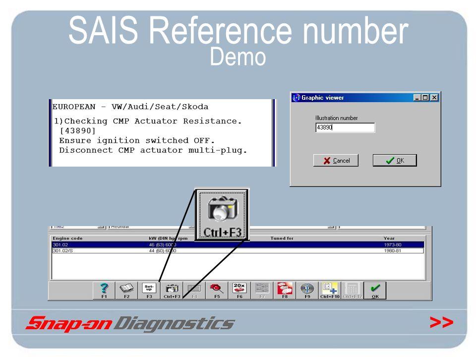 SAIS Reference number Demo