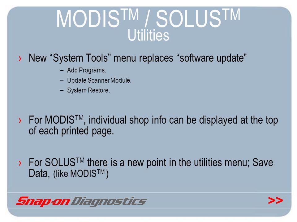 MODISTM / SOLUSTM Utilities