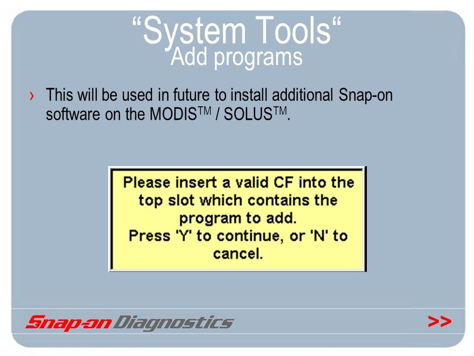 System Tools Add programs