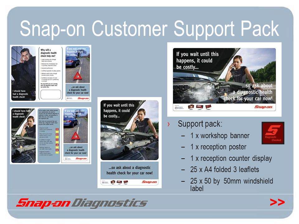 Snap-on Customer Support Pack