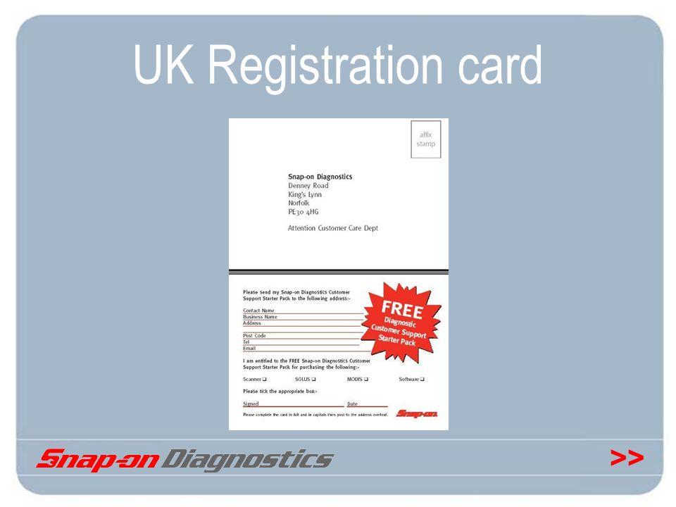 UK Registration card