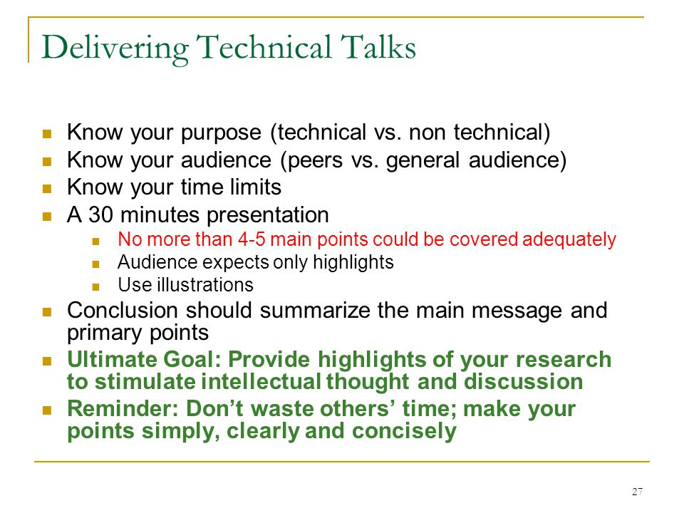 Delivering Technical Talks