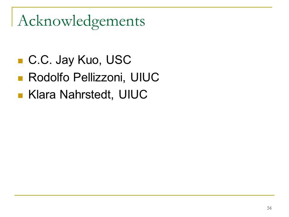 Acknowledgements C.C. Jay Kuo, USC Rodolfo Pellizzoni, UIUC