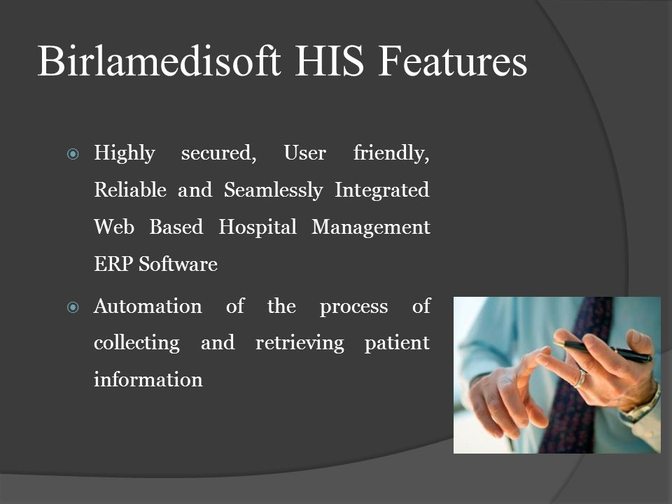 Birlamedisoft HIS Features