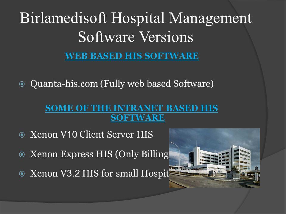 Birlamedisoft Hospital Management Software Versions