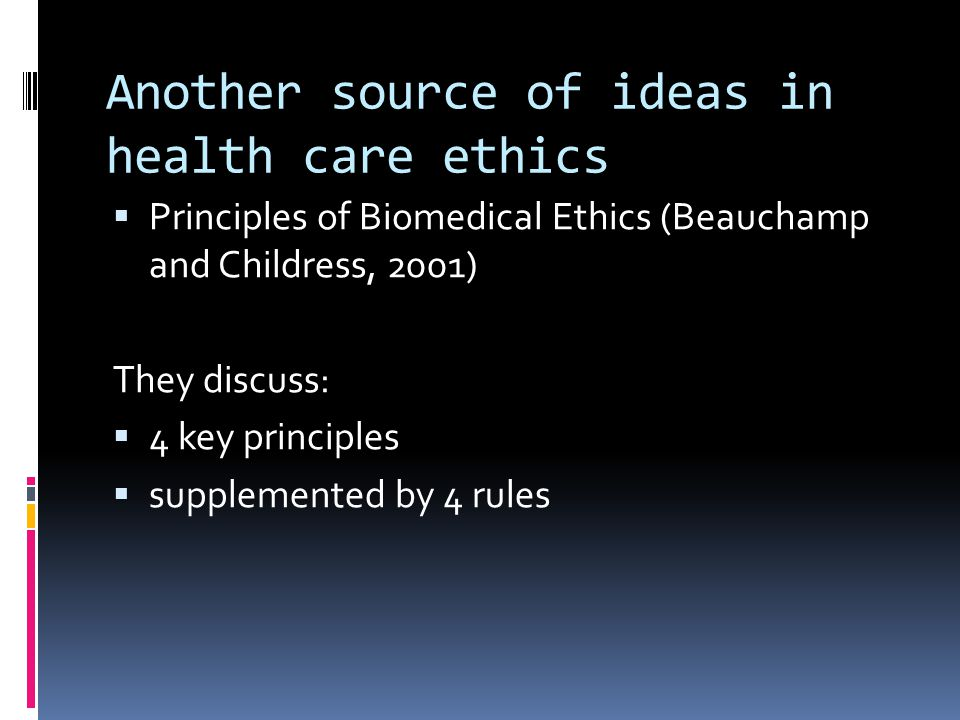significance of health care ethics in Topics: health care, health care provider, law pages: 3 (819 words) published: august 12, 2005 the basic rights of human beings, such as concern for personal dignity, are always of great importance during illness, however, these rights are extremely vital and must be protected.