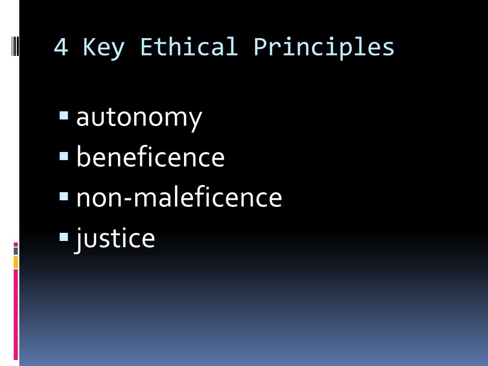 4 Key Ethical Principles