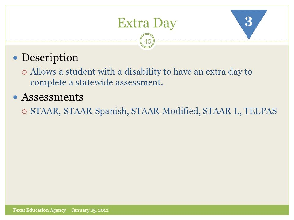 Extra Day 3 Description Assessments