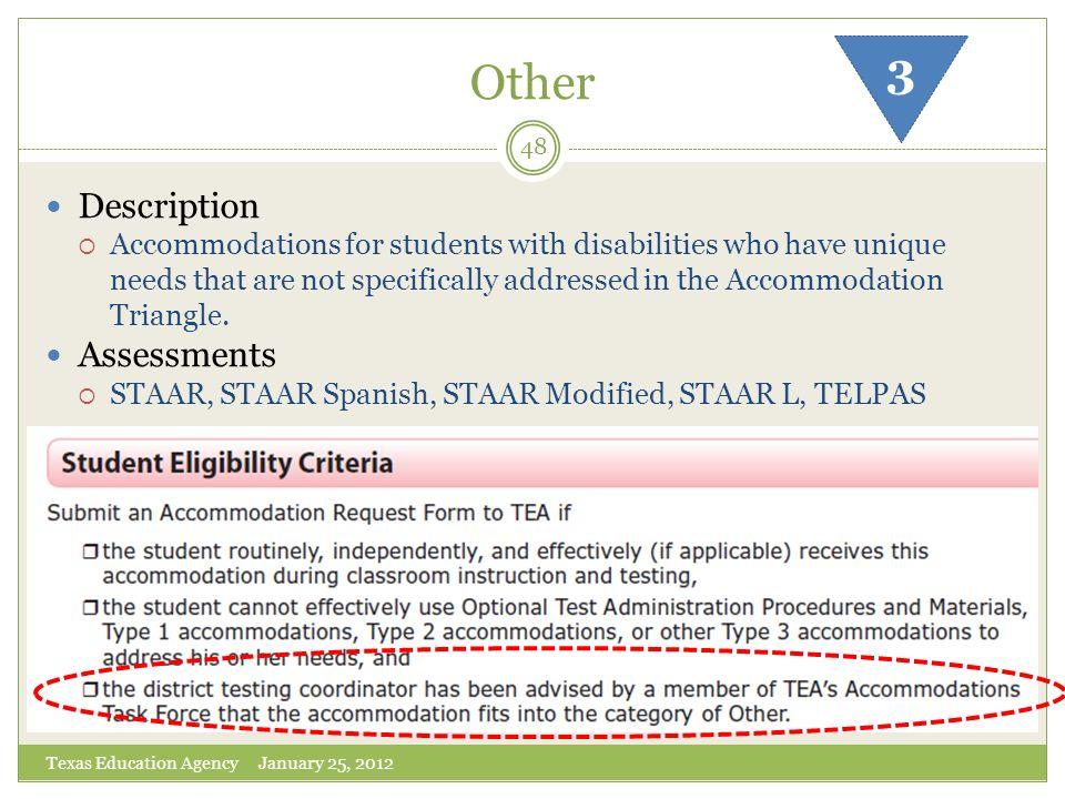 Other 3 Description Assessments
