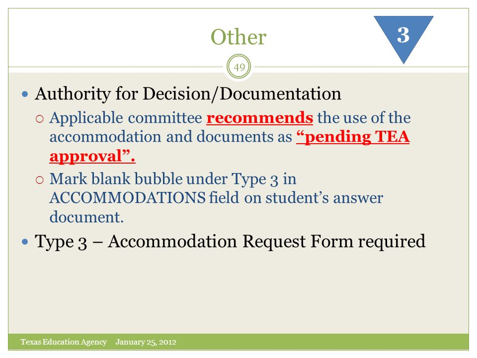 Other 3 Authority for Decision/Documentation