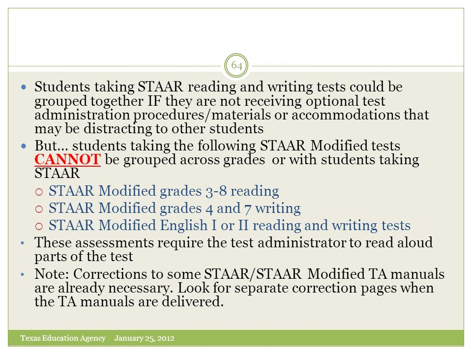 STAAR Modified grades 3-8 reading