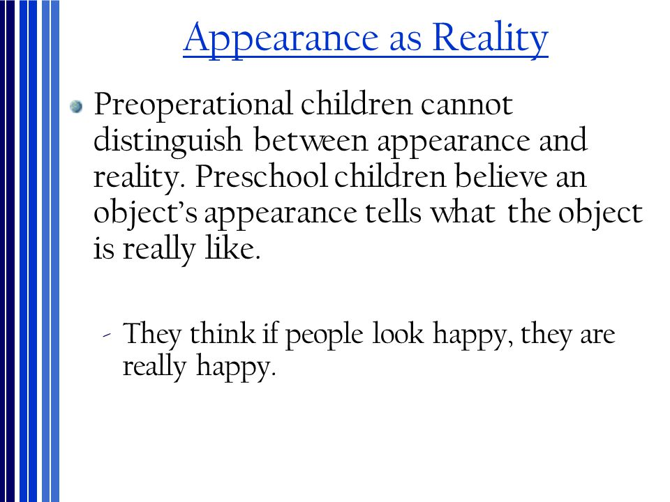 Appearance as Reality