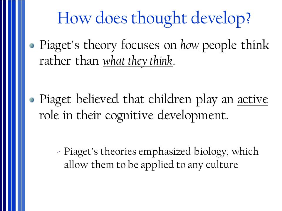 How does thought develop