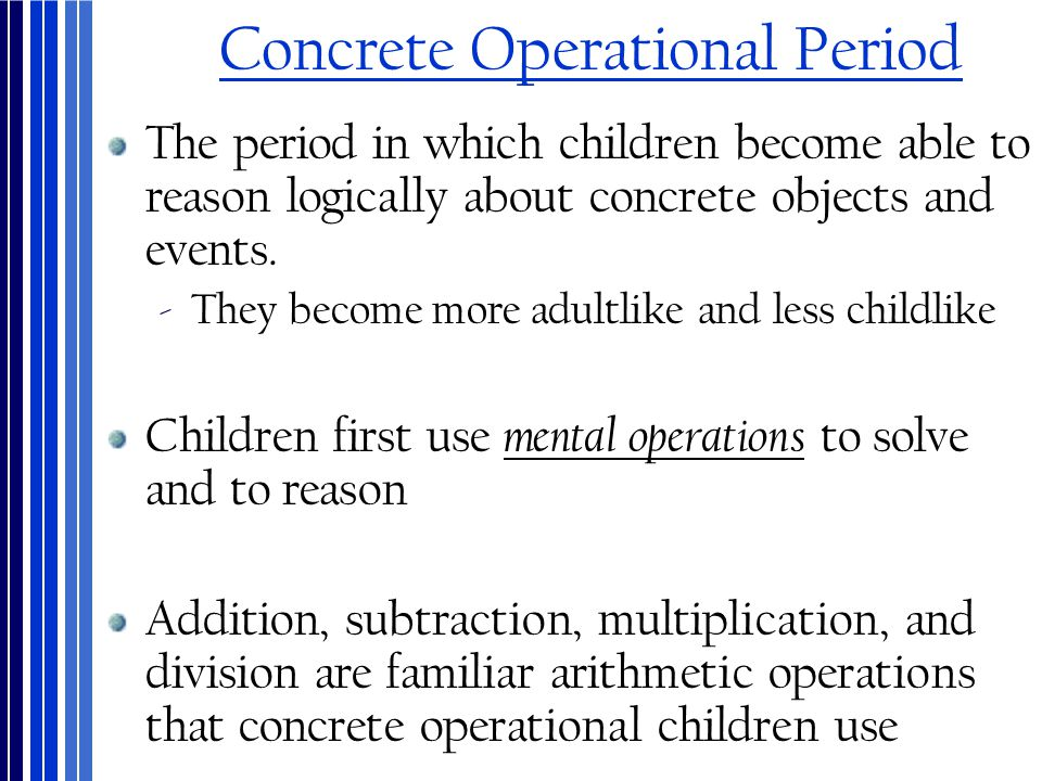 Concrete Operational Period