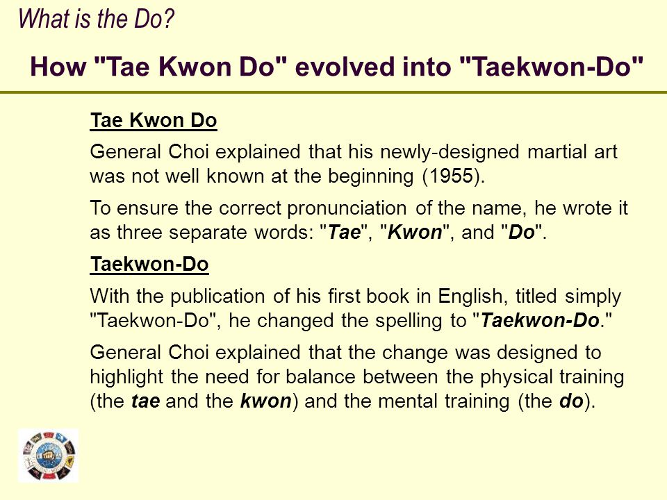 How Tae Kwon Do evolved into Taekwon-Do