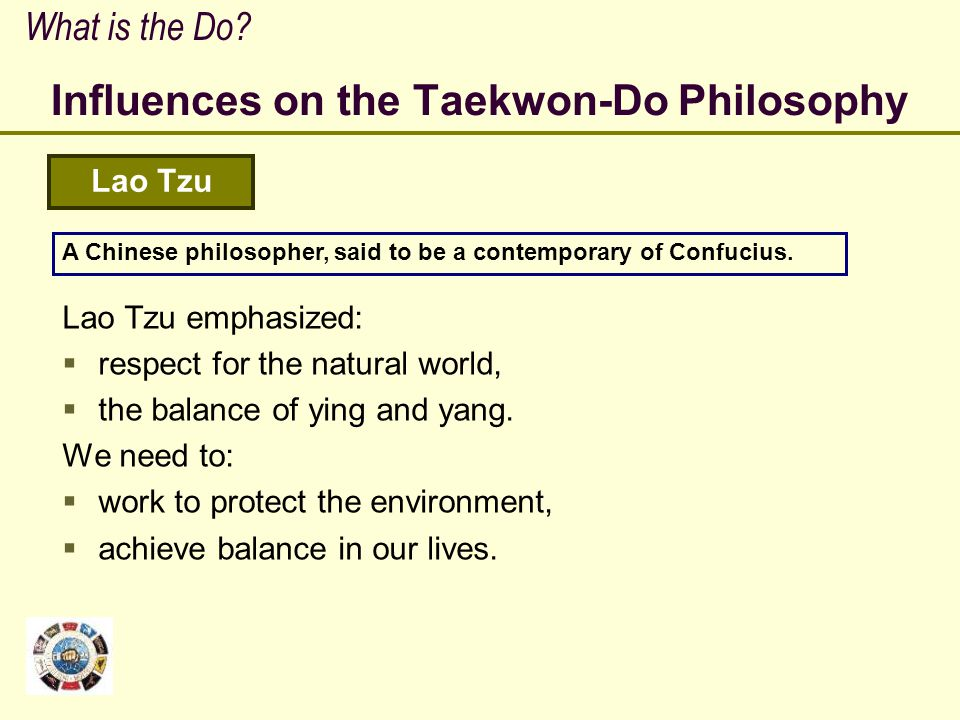 Influences on the Taekwon-Do Philosophy