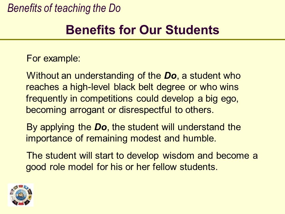 Benefits for Our Students