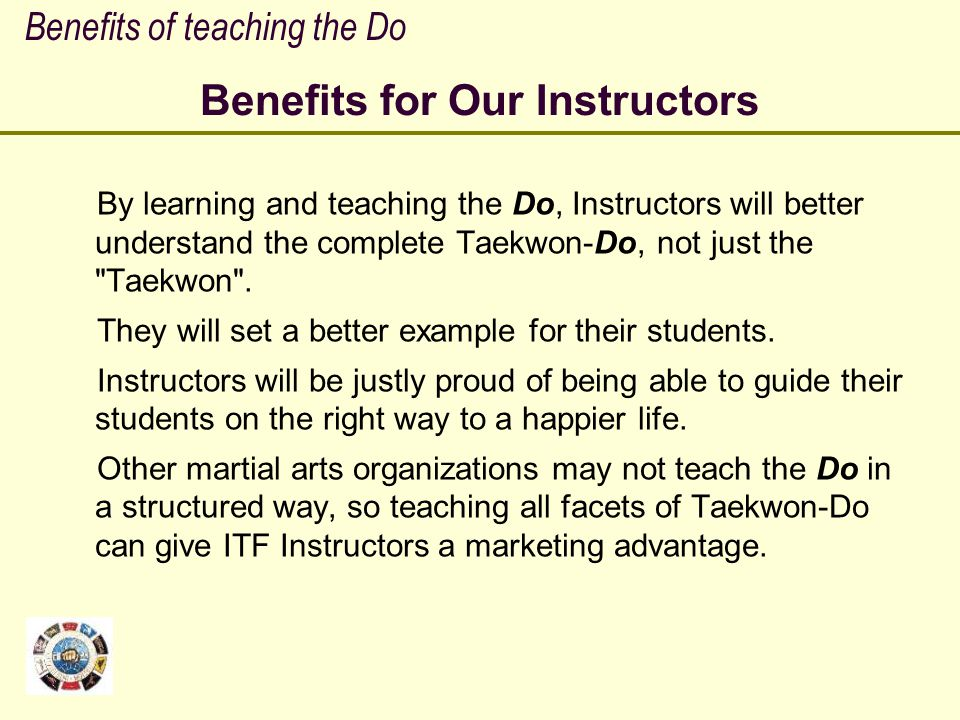 Benefits for Our Instructors