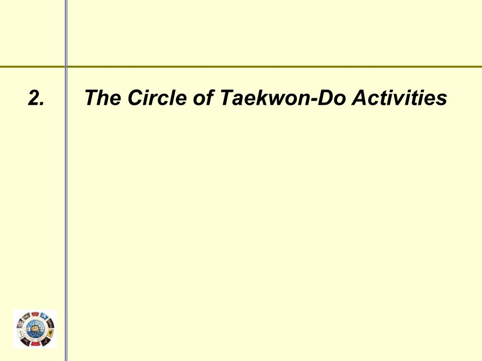 2. The Circle of Taekwon-Do Activities
