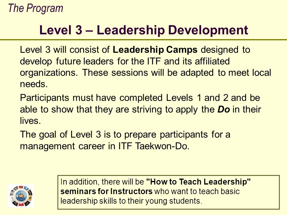 Level 3 – Leadership Development
