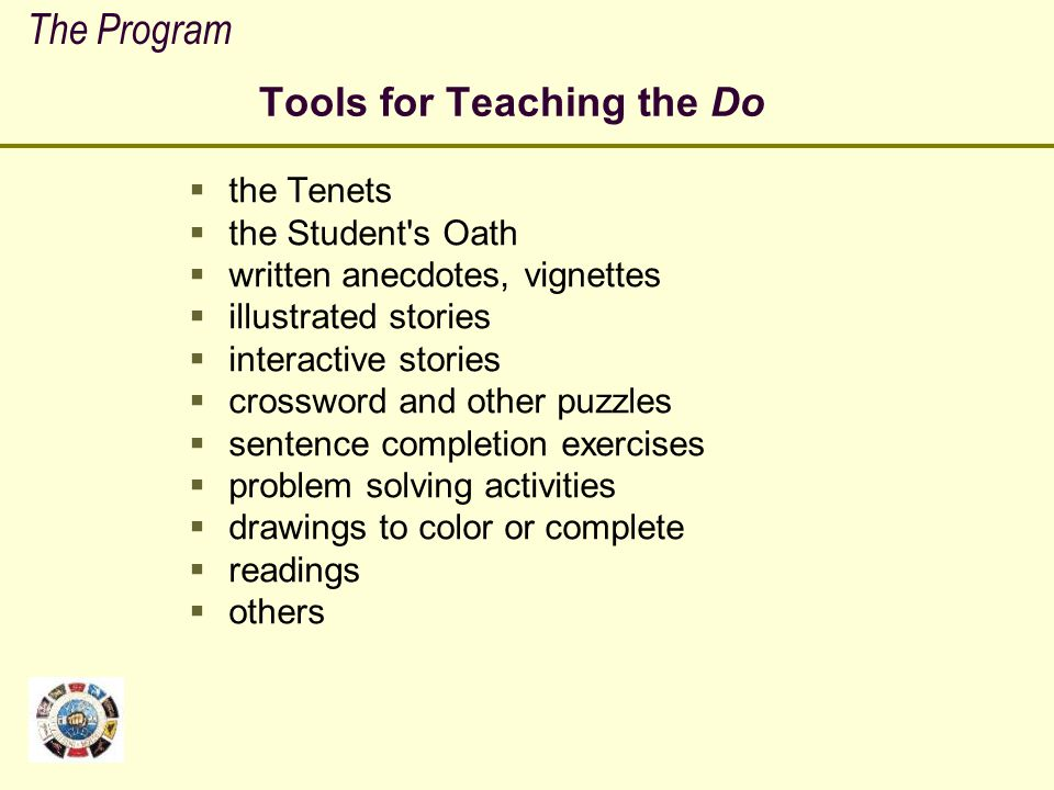 Tools for Teaching the Do